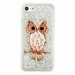 For Flydende væske Mønster Etui Bagcover Etui Ugle Glitterskin Blødt TPU for AppleiPhone 7 Plus iPhone 7 iPhone 6s Plus iPhone 6 Plus