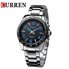 Men's Dress Watch Fashion Watch Quartz Owl Style Alloy Band Casual Black Silver Titanium White Orange Dark Blue