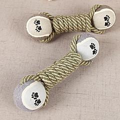 고양이 장난감 강아지 장난감 반려동물 장난감 씹는 장난감 티저 Rope 견고함 폴더 면 그레이