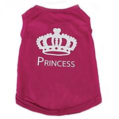 Kot Pies T-shirt Ubrania dla psów Codzienne Modny Tiary i korony Rose