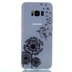 Mert Foszforeszkáló Jeges Áttetsző Minta Case Hátlap Case Pitypang Puha TPU mert SamsungS8 S8 Plus S7 edge S7 S6 edge plus S6 edge S6 S5