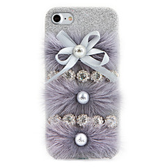 For Rhinsten GDS Etui Bagcover Etui Helfarve Hårdt Tekstil for Apple iPhone 7 Plus iPhone 7 iPhone 6s Plus/6 Plus iPhone 6s/6