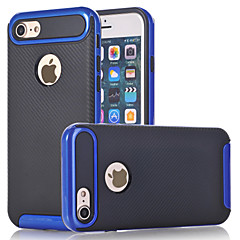 For Stødsikker Etui Bagcover Etui Helfarve Hårdt Kulstoffiber for AppleiPhone 7 Plus iPhone 7 iPhone 6s Plus iPhone 6 Plus iPhone 6s