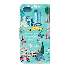 For Apple iPhone 7 7 Plus iphone 6s 6 Plus iphone SE 5s 5 The City View Pattern Flip PU Leather Case