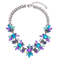 Women's Strands Necklaces Flower Chrome Unique Design Jewelry For Birthday Thank You Christmas Gifts 1pc
