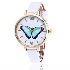 לנשים שעוני אופנה שעון יד קווארץ / PU להקה פרפר מגניב יום יומי שחור לבן כחול אדום חום ירוק ורוד צהוב אדום ירוק כחול ורוד