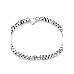 Dame Piger´ Kæde & Lænkearmbånd Venskab Mode Vintage Sølvbelagt Firkantet form Sølv Smykker ForBryllup Fest Speciel Lejlighed Halloween