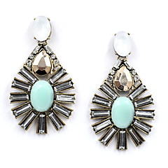 Earrings Set Crystal Unique Design Euramerican Vintage Chrome Jewelry For Wedding Party Birthday Gift 1 pair