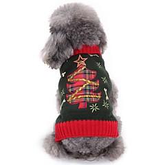 Gatos Perros Suéteres Ropa para Perro Invierno Flores / Botánica Adorable Moda Navidad Gris