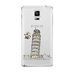 Mert Átlátszó Minta Case Hátlap Case Kilátás Puha TPU mert Samsung Note 5 Note 4 Note 3 Note 2