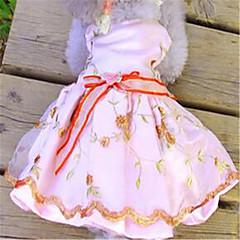 Σκυλιά Φορέματα Ρούχα για σκύλους Άνοιξη/Χειμώνας Κεντητό Cute