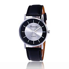 남여공용 패션 시계 손목 시계 / 석영 PU 밴드 멋진 캐쥬얼 블랙 화이트 블루 레드 브라운 그린 핑크