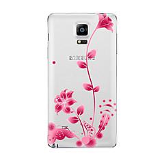 Mert Átlátszó Minta Case Hátlap Case Virág Puha TPU mert Samsung Note 5 Note 4 Note 3 Note 2