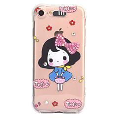 Til Apple iPhone 7 7 plus 6s 6 plus case cover sexet skønhed mønster diamant drop kommer med call flash tpu materiale telefon taske
