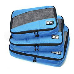 Reisetasche Klappbar Transportabel Langlebig Hohe Kapazität für Kulturtasche Koffer Accessoires Stoff Netz Stoff Polyester-Schwarz Grau