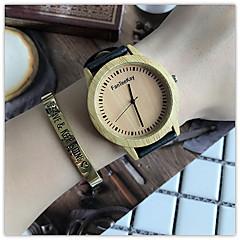 Damskie Zegarek na nadgarstek Unikalne Kreatywne Watch Na codzień Zegarek Drewno Chiński Kwarcowy / drewniany Skóra Pasmo Nowoczesne Na