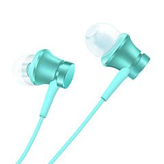 Oryginalny słuchawkowy tarczowy xiaomi do telefonów komórkowych w zestawie z plastikowym przewodem 3.5mm z mikrofonem