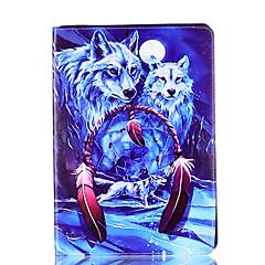 Per mela ipad 4 3 2 copertura caso copertina wolf modello stent pu materiale guaina di protezione piatta