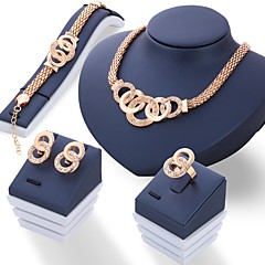 Dames Sieraden Set Bergkristal Uniek ontwerp Kostuum juwelen Strass Sieraden 1 Paar Oorbellen Kettingen Oorbellen Ringen Voor Bruiloft