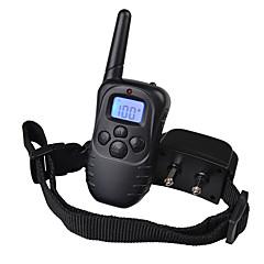 bark Krage Träningshalsband till hundar anti Bark Laddningsbart Fjärrkontroll Vibration LCD 300M Enfärgad Nylon