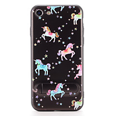 Til Apple iPhone 7 7plus cover med stativ mønster bagcover case enhjørning hard pc 6s plus 6 plus 6s 6
