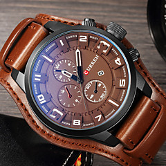 Curren Mens Watches Top Brand Luxury Leather Quartz Watch Men Fashion Casual Sport Clock Men's Wristwatch Relogio Masculino