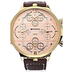 Damen Herrn Sportuhr Modeuhr Armbanduhr Armband-Uhr Chinesisch Quartz AutomatikaufzugKalender Wasserdicht Duale Zeitzonen Punk Großes