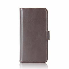 Huawei P10 plusz p10 kártya tulajdonosa pénztárca flip-ügy teljes test esetében egyszínű nehéz valódi bőr Huawei p10 lite P8 lite (2017)