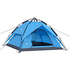 3-4 사람 텐트 더블 베이스 자동 텐트 원 룸 캠핑 텐트 2000-3000 mm 옥스퍼드 방수-캠핑