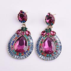 Dame Dråbeøreringe Krystal Geometrisk Blomstret kostume smykker Krystal Legering Geometrisk form Smykker Til Fest Daglig Afslappet