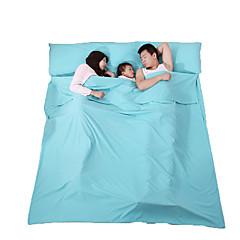 Spanie Pad Śpiwór Śpiwór Liner Śpiwór letni Podwójne 23 Polyester180 Podróżowanie WewnątrzMoistureproof Oddychalność Kompresja Prostokąt