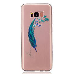 Voor Hoesje cover Transparant Patroon Achterkantje hoesje Veer Zacht TPU voor Samsung S8 S8 Plus S5 Mini S4 Mini