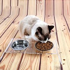 Kedi Köpek Kaseler ve Su Şişeleri Biberonlar Evcil Hayvanlar Kaseler ve Besleme Su Geçirmez Taşınabilir Transparan