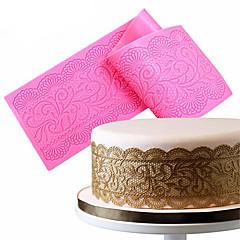 1Pcs  Flower Silicone Lace Impression Mold Cake Decor Bake Emboss Mat Mould Craft Random Color