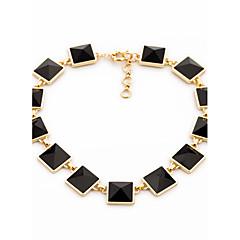 Női Strands nyakláncok Square Shape Egyedi Fekete Ékszerek Mert Napi 1db