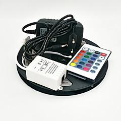 Z®zdm 5m 300x3528 smd rgb светодиодная лампа с подсветкой и 24key дистанционный контроллер и 3a eu / us / uk блок питания (ac110-240v)