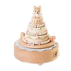 Music Box Cylindryczny Artykuły świąteczne Drewno Dla obu płci