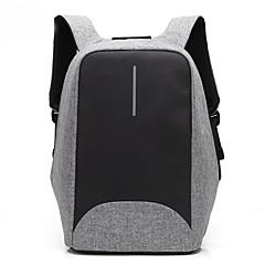 15,6 hüvelykes laptop varrás üzleti vízálló nylon ruhát USB töltő port notebook táska hátizsák Dell / hp / Lenovo / sony / acer / felület