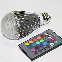 1pcs 5W E27 RGB LED Lamp IR Remote Controller Light LED Bulb Holiday lighting Christmas Home Bar KTV DecorationAC85-265V