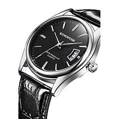KINGNUOS Bărbați Ceas La Modă Ceas de Mână Ceas Casual Quartz Calendar Piele Bandă Cool Casual Negru Maro Negru Maro