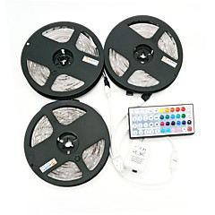ZDM 15M(3*5M) Waterproof 100W 450X5050 RGB  LEDs Strip Flexible Light DC 12V  with 1BIN3 connector and 44Key IR Remote Controller Kit