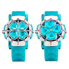 Men's Unisex Fashion Top Watch Fidget Spinner Wrist watch Unique Creative Watch Quartz Luminous Silicone Band Blue Red Strap Watch