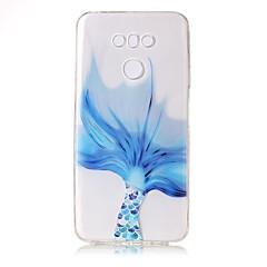 For Etuier Transparent Præget Mønster Bagcover Etui blondedesign Blødt TPU for LG LG G6