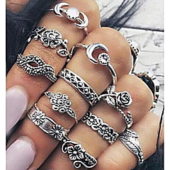 Vintage Midi Rings Euramerican Alloy Jewelry For Daily 1set