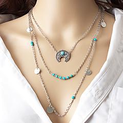 Γυναικεία πολυεπίπεδη Κολιέ MOON Κράμα Μοντέρνα Βοημία Style Euramerican Κοσμήματα Για Πάρτι Καθημερινά 1pc