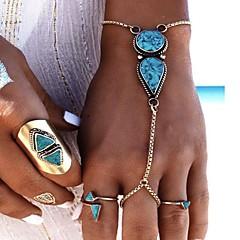 Női Gyűrű karkötők Türkizkék Divat jelmez ékszerek Ötvözet Geometric Shape Ékszerek Kompatibilitás Parti Születésnap