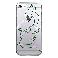 For Ultratyndt Mønster Etui Bagcover Etui Linjeret / bølget Blødt TPU for AppleiPhone 7 Plus iPhone 7 iPhone 6s Plus iPhone 6 Plus iPhone