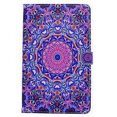 Samsung Galaxy Tab t580 T530 pu nahka sininen violetti kuvio maalattu taulu suojus T550 T560 T280 T350