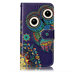Til huawei p10 lite p8 lite (2017) pu læder materiale ugle mønster relief telefon taske p10 plus p10 p9 lite p8 lite