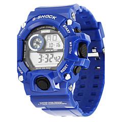 SKMEI Hommes Montre de Sport Montre numérique Quartz Numérique Quartz Japonais LED Calendrier Chronographe Etanche Polyuréthane Bande Bleu